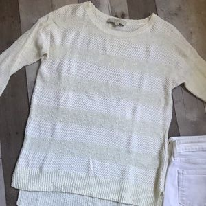 Woman's Loft off white sweater